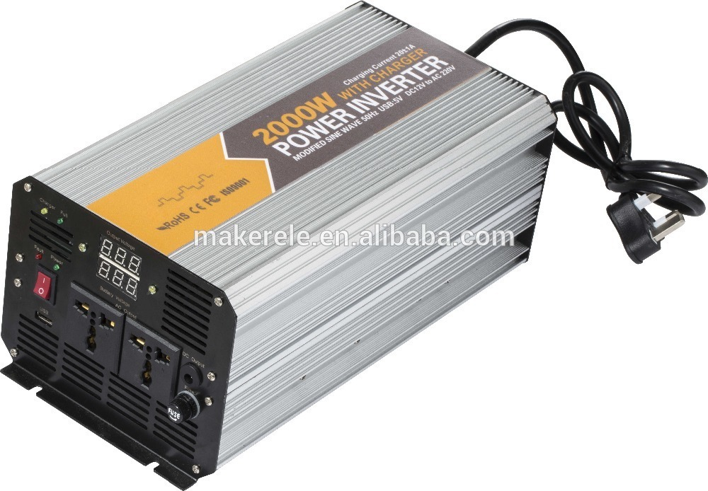 MKM2000-482G-C high quality continuous power inverter 2000 watt power inverter 220v,50v to 220v ac inverter with charger