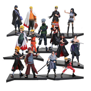 New 2pcs/set PVC japanese anime figures naruto Dolls Uchiha Sasuke + Uchiha itachi game Naruto shippuden Action Figure Toy image