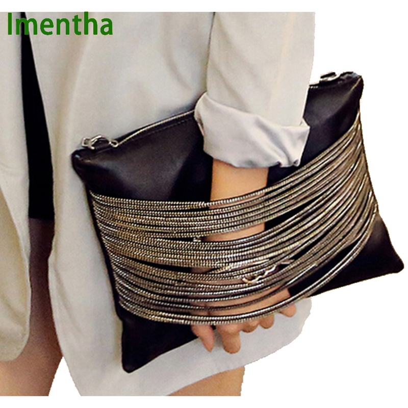 Hot FASHION day clutch new designer envelope leather purse wallet shoulder strap womens evening clutch bags lady party handbag