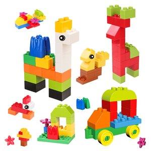 Image 4 - גדול לבנים DIY אבני בניין עיר Creative לבני רכב דגם בעלי החיים חינוכיים למידה צעצועים