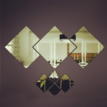 Newest Square Mirror Wall Sticker Living Room Bathroom Movable Wall Sticker  Wall Sticker Poster Stickers Diy Home Decoration