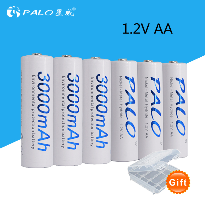6pcs 2a AA Battery Batteries 1.2V AA 3000mAh Ni-MH Pre-charged Rechargeable Battery 2A Baterias for Camera,clock and Razor inc beach new purple white tie dye women s size medium m pull on maxi skirt $69