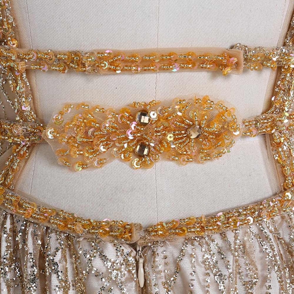 BeryLove Χρυσά Βραδινά Φορέματα Βραδινά - Ειδικές φορέματα περίπτωσης - Φωτογραφία 6