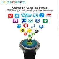 DM368 smart watch для Andriod 4 ядра часы телефон с sim карты 3g Wi Fi gps Bluetooth сердечного ритма трекер монитор smart Watch