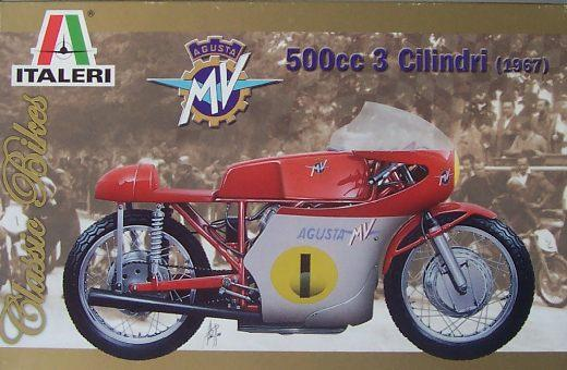 ITALERI 4604 MV Agusta 500CC 3 Cilindri 1967 Motorcycle Kit 1:9 Scale