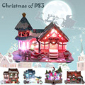 Cubic Fun 3D Puzzle Christmas Cabin Lighting Series, DIY Assembly House, Christmas Gift Puzzle 3D House Construction Paper Toys