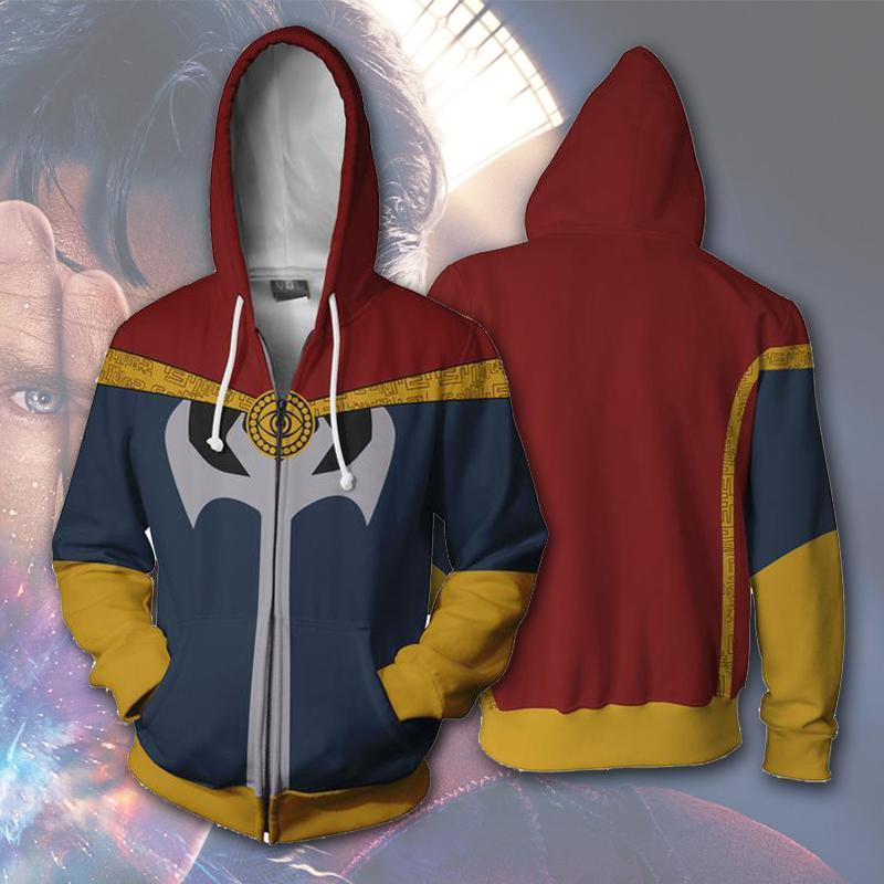 Dr. Strange Infinity War Hoodie man zipper hoodies top sweatshirt jacket Coat For Adult Man