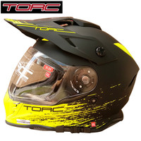 TORC Fox Racing Full Face Downhill Motocross Helmet Flip Up ECE Motorcycle Helmets Dual Lens With