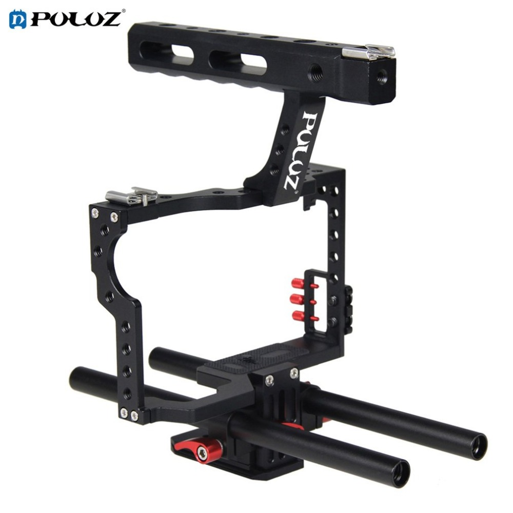 Фотография PULUZ PU3010 Durable Aluminum gimbal Camera Cage Handheld Ergonomic Handle Steadicam Stabilizer Suitable for Sony A7 A7S A7R2