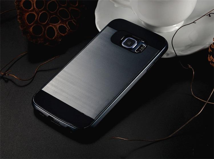 Lyx borstad Slim Hard Armor Bak Skal Fodral För Samsung Galaxy S8 S5 - Reservdelar och tillbehör för mobiltelefoner - Foto 4
