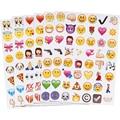 48 die mensagem sorriso engraçado cinco colar cortar 240 clássico emoticon smiley emoji crianças adesivos notebook Multi China