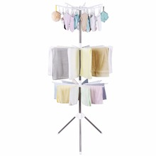 (Ship From US) Lifewit Foldable Clothes Drying Rack Portable 3 Tier Clothes Hanging  Rack With 24 Clips For Drying Socks, Baby Clothes, Cloth Di