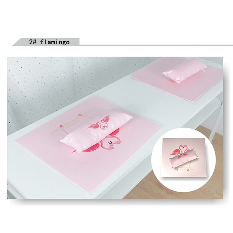 Cushion Sponge Arm-Rest Nail-Polish-Holder Hand-Pillow Salon Nail-Art Manicure Flamingo-Design