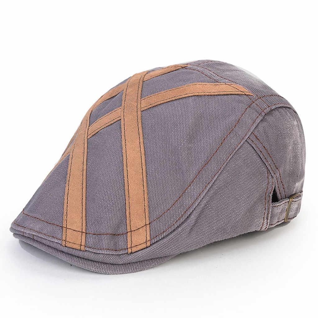 9a0b8a3811b7c ... ISHOWTIENDA Unisex Navy Blue Beret Cap Wool Beret Hats Men Winter Thick  Warm Fitted Hats Male ...