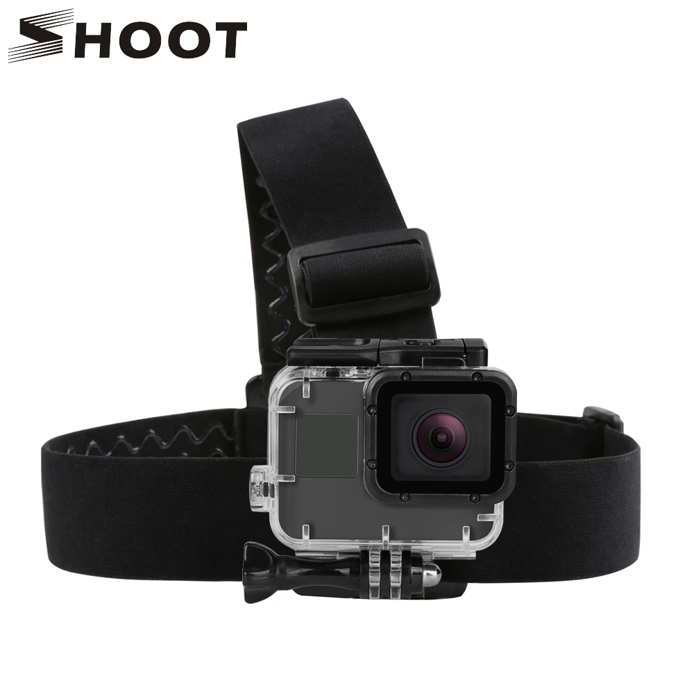 Harnais de casque de harnais réglable SHOOT pour GoPro Hero 7 5 6 4 Session Xiaomi Yi 4K Sjcam Sj4000 Strap Mount Go Pro Accessory