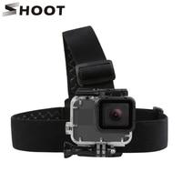 SCHIEßEN Einstellbare Harness Brustgurt Kopf Strap Gürtel für GoPro Hero 8 7 6 5 Schwarz Xiaomi Yi 4K sjcam Sj4000 Gehen Pro 7 8 Zubehör