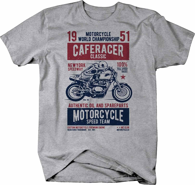 2019 модная черная футболка с короткими рукавами с принтом, круглый кофе, гонщик, мотоцикл, скоростная команда, гонщик, винтажные классические топы на заказ, футболки