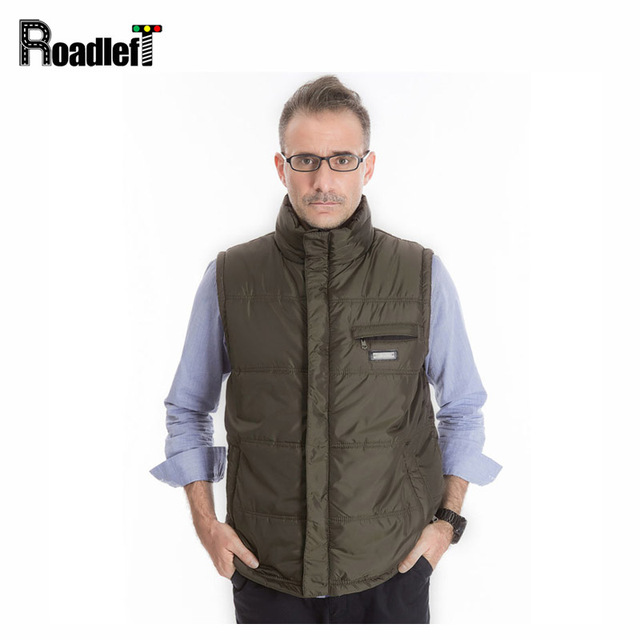 Spring / Autumnr thicken cotton Down warm vest Men's casual suit sleeveless vests coat Men formal dress vests waistcoat colete