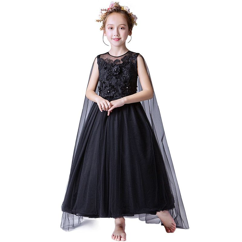 2019 New Teenage Girls Mesh Flowers Tutu Princess Dress Kids Dresses For Girls Wedding Party Gowns Baby Girl Clothes Vestido F572019 New Teenage Girls Mesh Flowers Tutu Princess Dress Kids Dresses For Girls Wedding Party Gowns Baby Girl Clothes Vestido F57