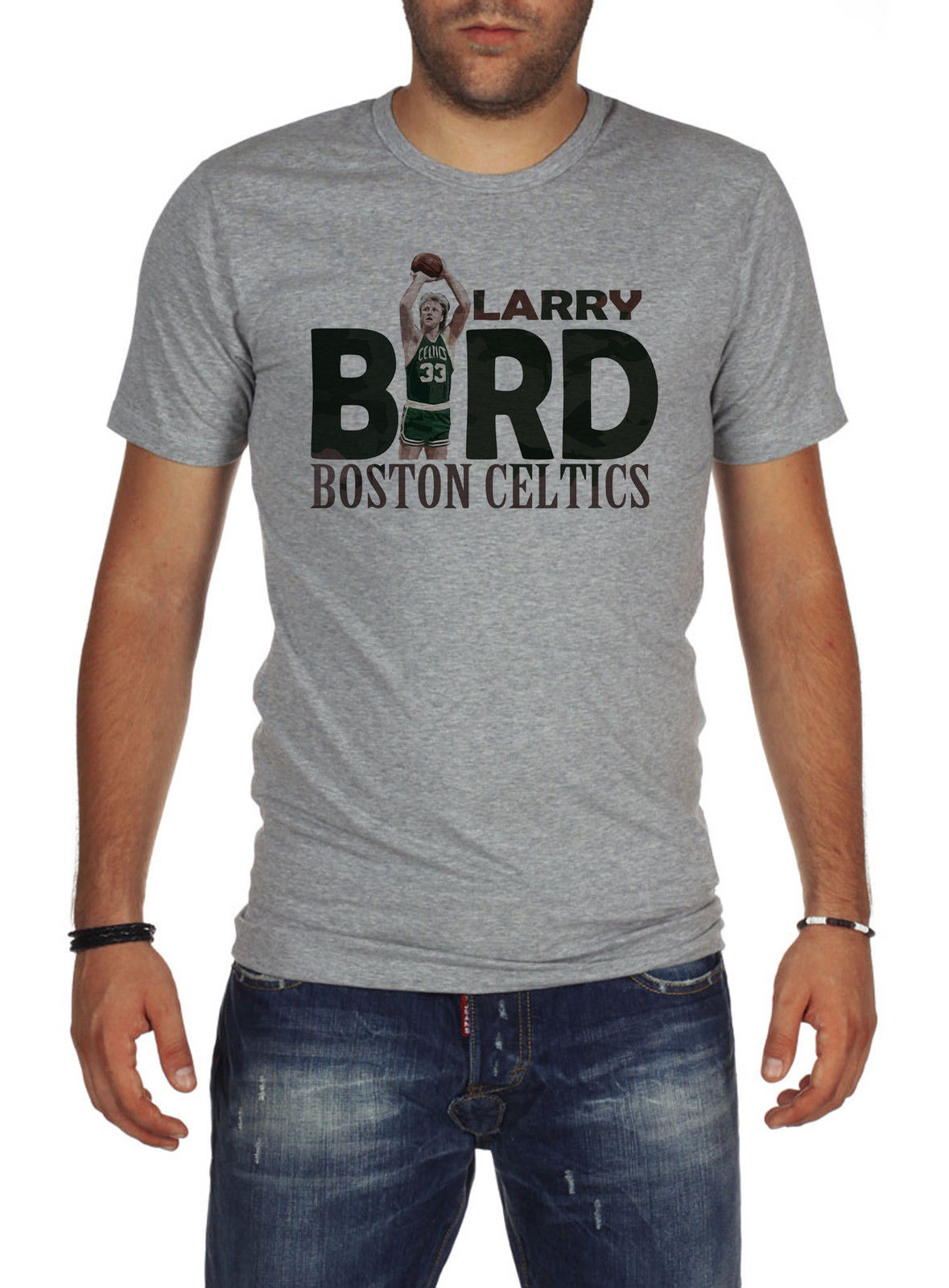 on sale d297d 19f7a US $8.49 15% OFF|Basketballer T Shirt Jersey Larry Bird The Legend M50  Custom Made Good Quality T Shirt Top Tee T Shirts Designs Best Selling-in  ...