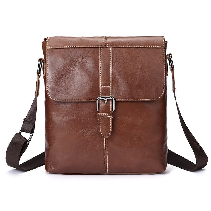 Joyir Genuine leather man shoulder bags high quality Messenger Bag men casual Crossbody Classic Brand men's bags brown