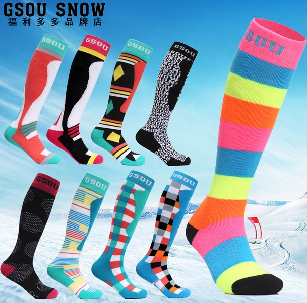 Gsou snow couples warm ski stockings women men thick thermal snowboarding ski socks winter outdoor sports socks high quality