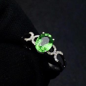 Tsavorite Ring Fine Jewelry Real 18 K Gold Jewelry Natural Unheat 1.3ct Tsavorite Gemstones Tsavorites Female Wedding Rings 2