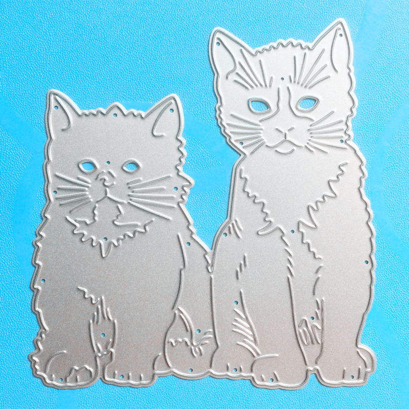 YLCD1008 Cat Metal Cutting Dies For Scrapbooking Stencils DIY Album Cards Decoration Embossing Folder Die Cuts Tool Template New in Cutting Dies from Home Garden