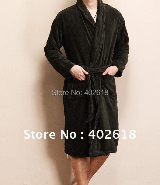 Towel Selections Turkish Cotton Robe Kimono Collar Terry Bathrobe ...