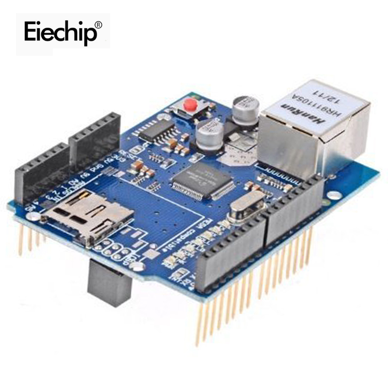 1pcs Smart Electronics for Arduino Ethernet W5100 Network Expansion Development Board Learning DIY SD Card UNO MEGA 2560 Shield