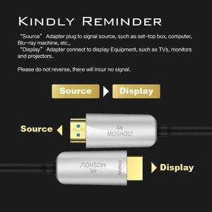 Image 4 - Moshou Người Đam Mê Quang Có Dây Cáp HDMI 2.0 HD 4K Cáp 60GHz 18Gbs Có Âm Thanh & Ethernet Dây HDMI máy Nghe Nhạc Lossless Cáp HDMI