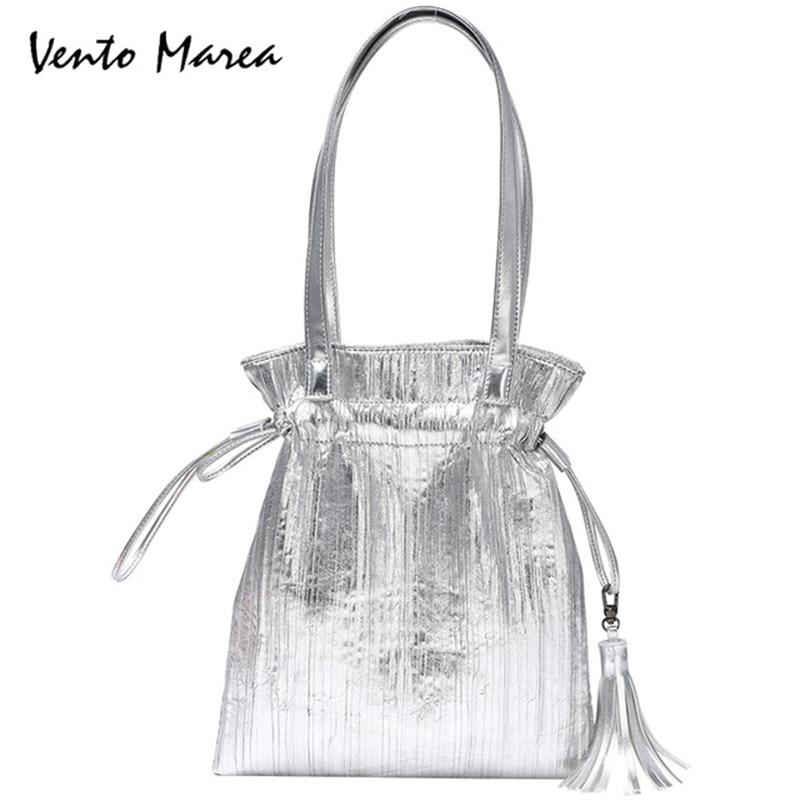 Vento Marea Shoulder Bag Fold Pattern Bolsos Mujer Ladies PU Leather Female Messenger Bag Casual Women Handbags Bolsa Feminina недорго, оригинальная цена