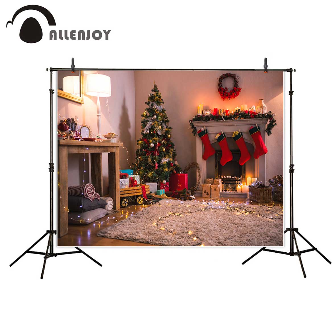 Allenjoy photographic background Christmas tree stove house indoor backdrop newborn photobooth computer printing photo studio newest mermaid makeup brushes set fantasy eyebrow eyeliner blush blending contour foundation cosmetic beauty make up fish brus