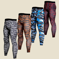 Plus Size Mens Compression Tights Base Layers Joggers Leggings 2018 Camouflage 3D Print Fitness Trousers Quick