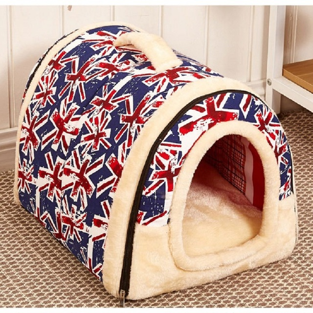 Pet Dog House Nest With Mat Foldable Pet Dog Bed Cat Bed House For Small Medium Dogs Travel Kennels For Cats Pet Products 2