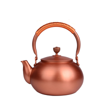 1.2-1.5L Handmade Teapot Made of 100% Red Copper Supplementing Cu To The Body Japanese Style for Puer Green Tea