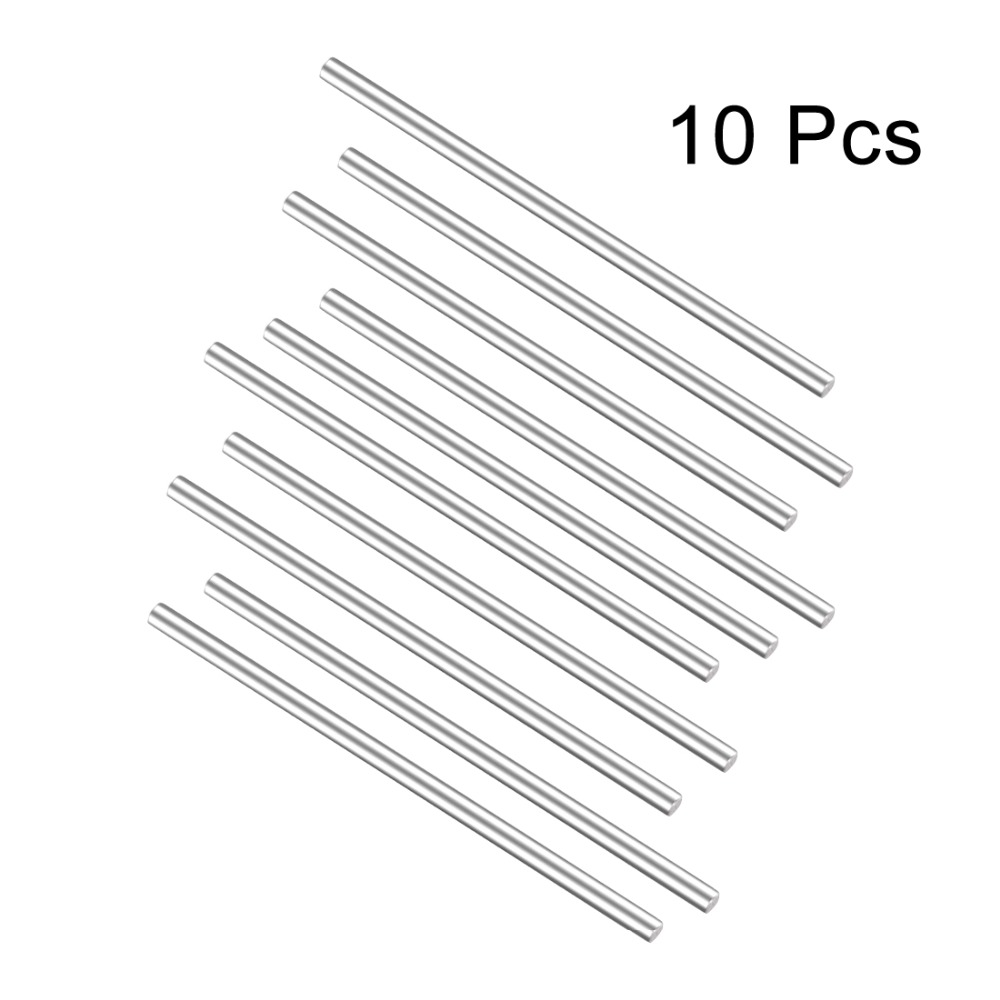 Uxcell 10Pcs Round Stainless Steel Shaft Rod 3mm 2mm Dia for DIY Toy RC Car Model Part 80mm 140mm 130mm 120mm Length image