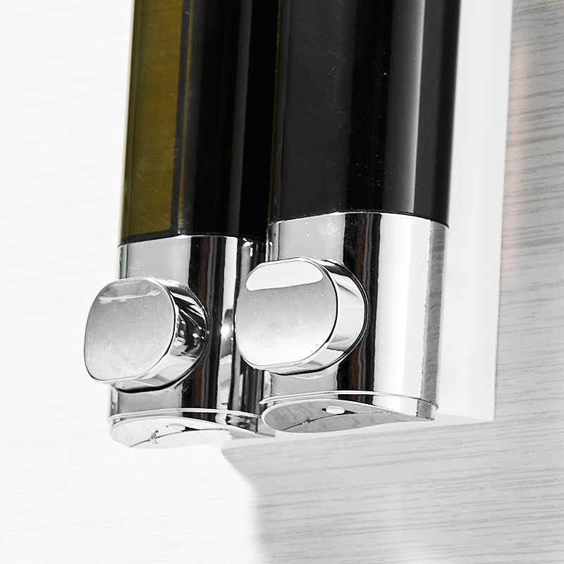 FLG podwójne mydło w płynie dozownik montowany na ścianie dozownik mydła w płynie kuchnia łazienka butelki z tworzywa sztucznego pompa dozowniki P145