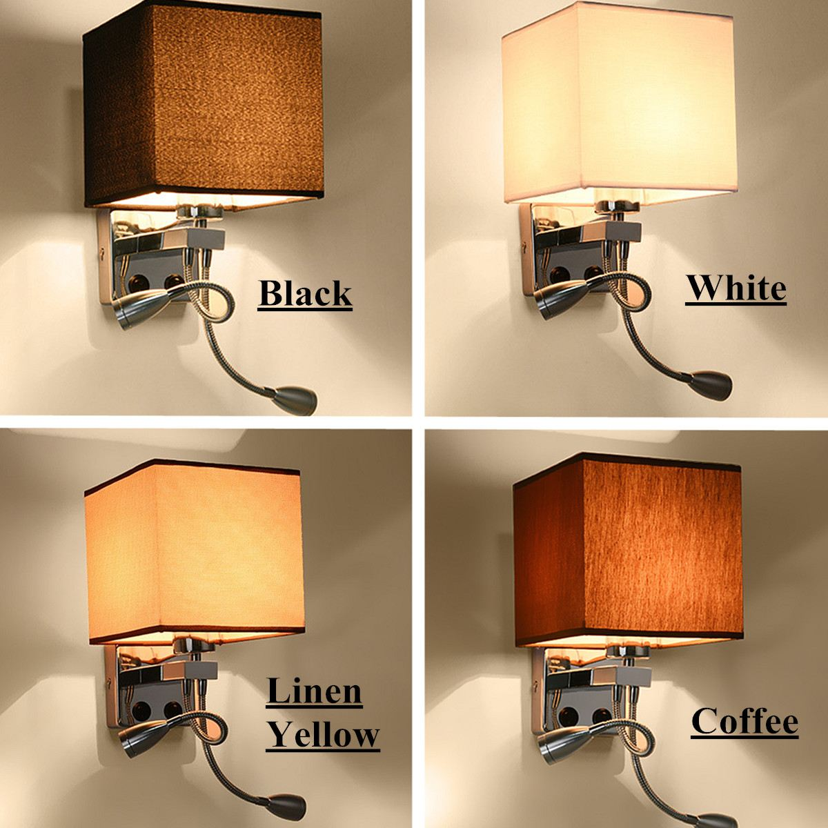 daily deals modern led cloth wall lamp sconce light hallway