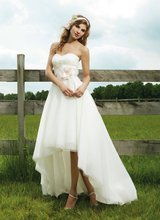A-232 2013 Sexy Sweetheart Short Front Long Back White Wedding Dress