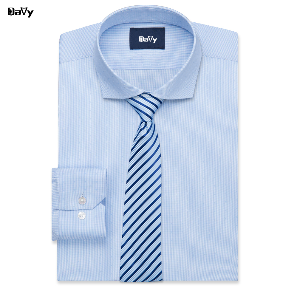 Davy Custom Shirts Made By Hand Business Casual Slim Fit