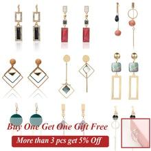 2019 New Korean Style  Women Geometric Dangling Statement Ear Jewelry Fashion Earrings Gift For Friend Dropshipping