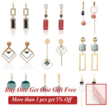2019 New Korean Style Women Geometric Dangling Statement Ear Jewelry Fashion Earrings Gift For Friend Dropshipping(China)