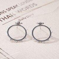 925 Sterling Silver Sun Round Jackets Jacket Earrings for Women Club Party Earrings Fine Fashion Jewellery