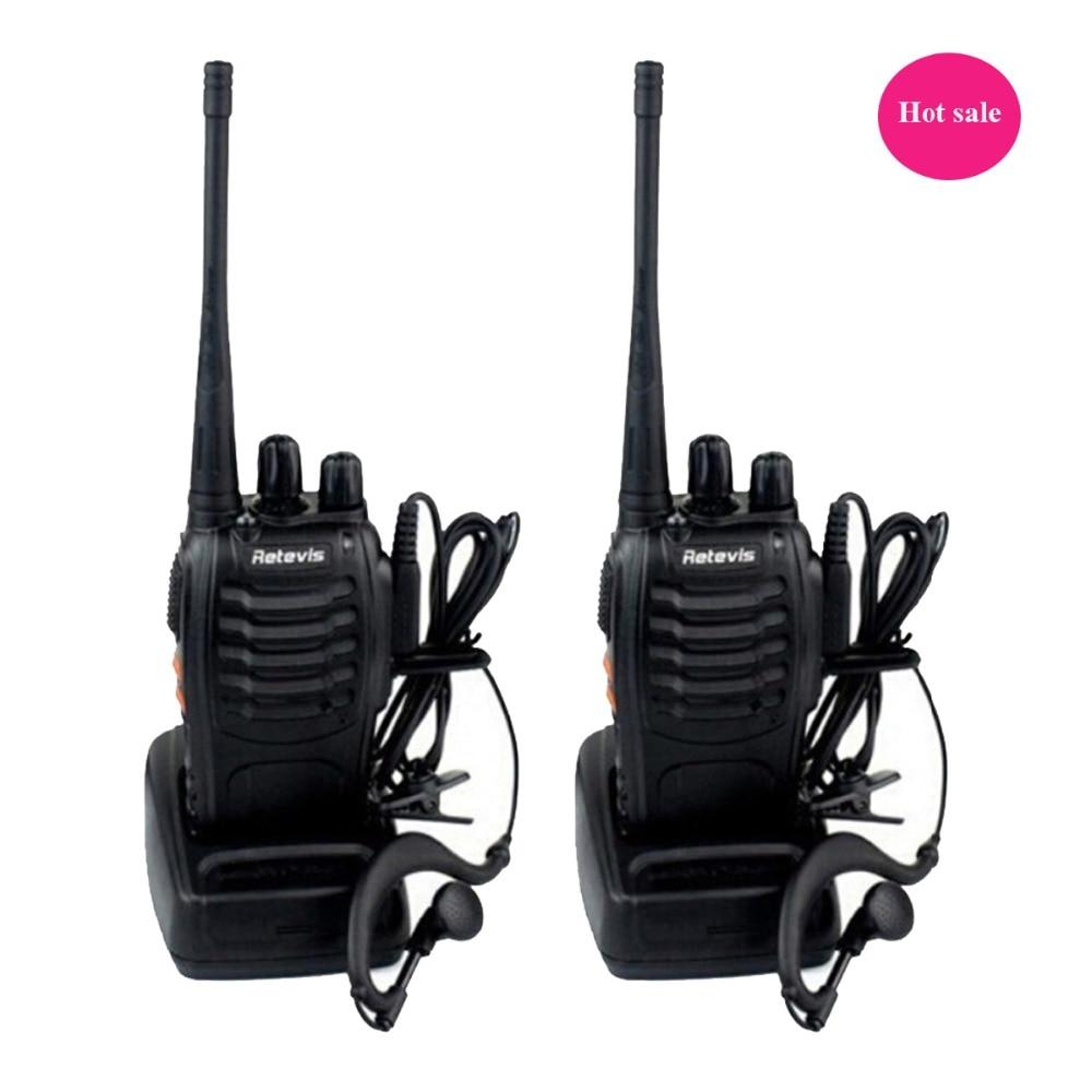 2pcs Walkie Talkie Retevis H777 UHF 400 470MHz 16CH Ham Radio Hf Transceiver 2 font b