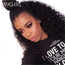 Wigirl Hair Curly Lace Front Wigs For Black Women Pre pluck Hairline with Baby Hair Virgin Hair Deep Wave Human Hair Wigs(China)