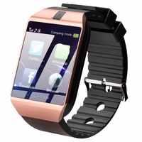 Bluetooth inteligentny zegarek męskie sportowe Smartwatch DZ09 telefon z systemem android zadzwoń Relogio 2G GSM SIM karta kamery tf na telefon PK GT08 A1
