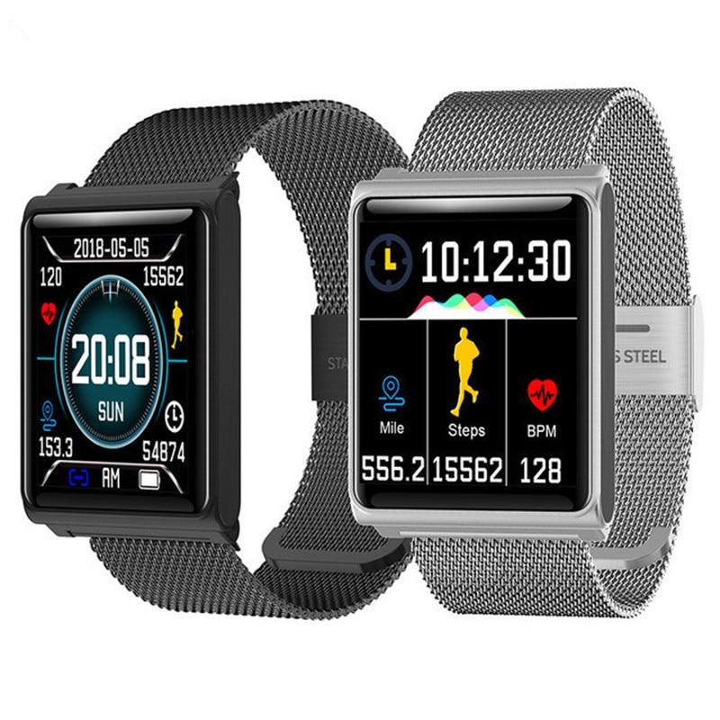 NEW Men's Smart Wristband Waterproof Bracelet Heart Rate Monitor Smart Band Pedometer Activity Tracker Sleep Monitor Smart Watch