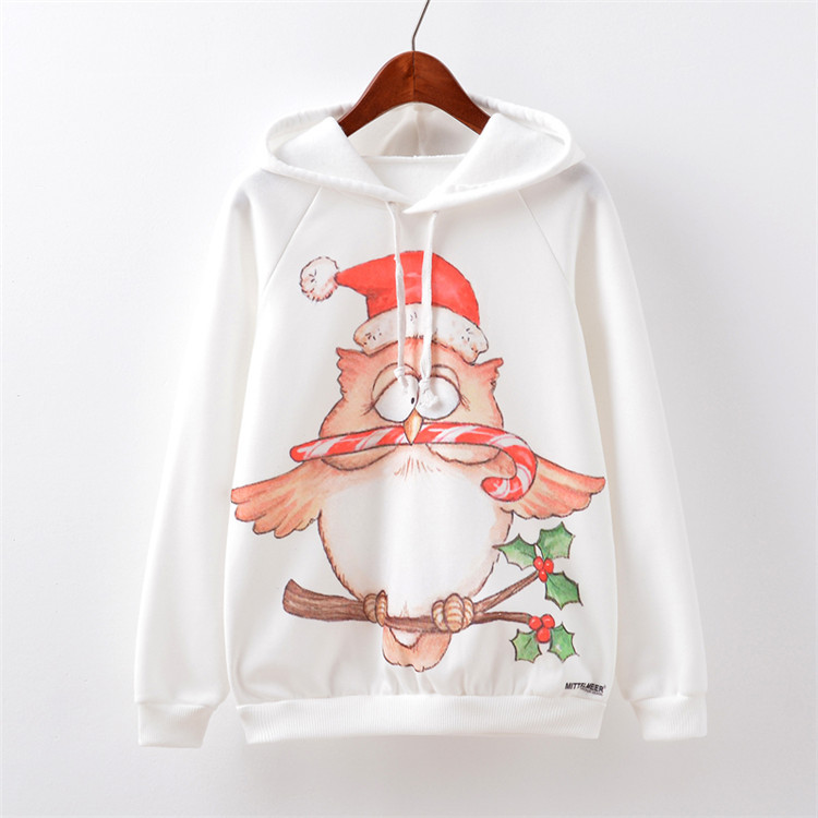 christmas 3d owl cute christmas hoodie ugly christmas sweater baby maternity clothing maternity clothes winter 374 in hoodies from mother kids on - Maternity Christmas Sweater