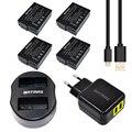 4 unids dmw dmw-blc12 dmwblc12 blc12 recargable batería + dual usb cargador para panasonic dmc gh2 g5 g6 v-lux4 fz1000 dmc-gh2 fz200
